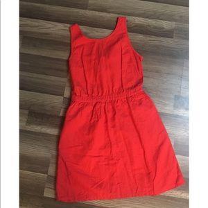 Gap linen/cotton blend dress with open back